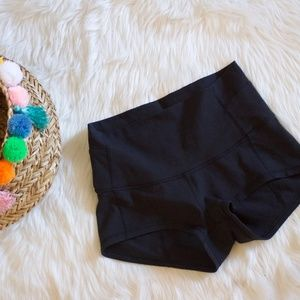 High Waisted Black Boogie Shorts  - Size 8